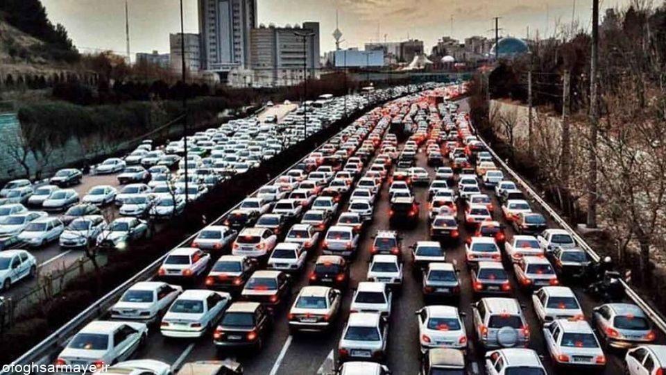 وضعیت ترافیکی معابر بزرگراهی و اصلی تهران در روز شنبه بیست و ششم تیر ماه 1400